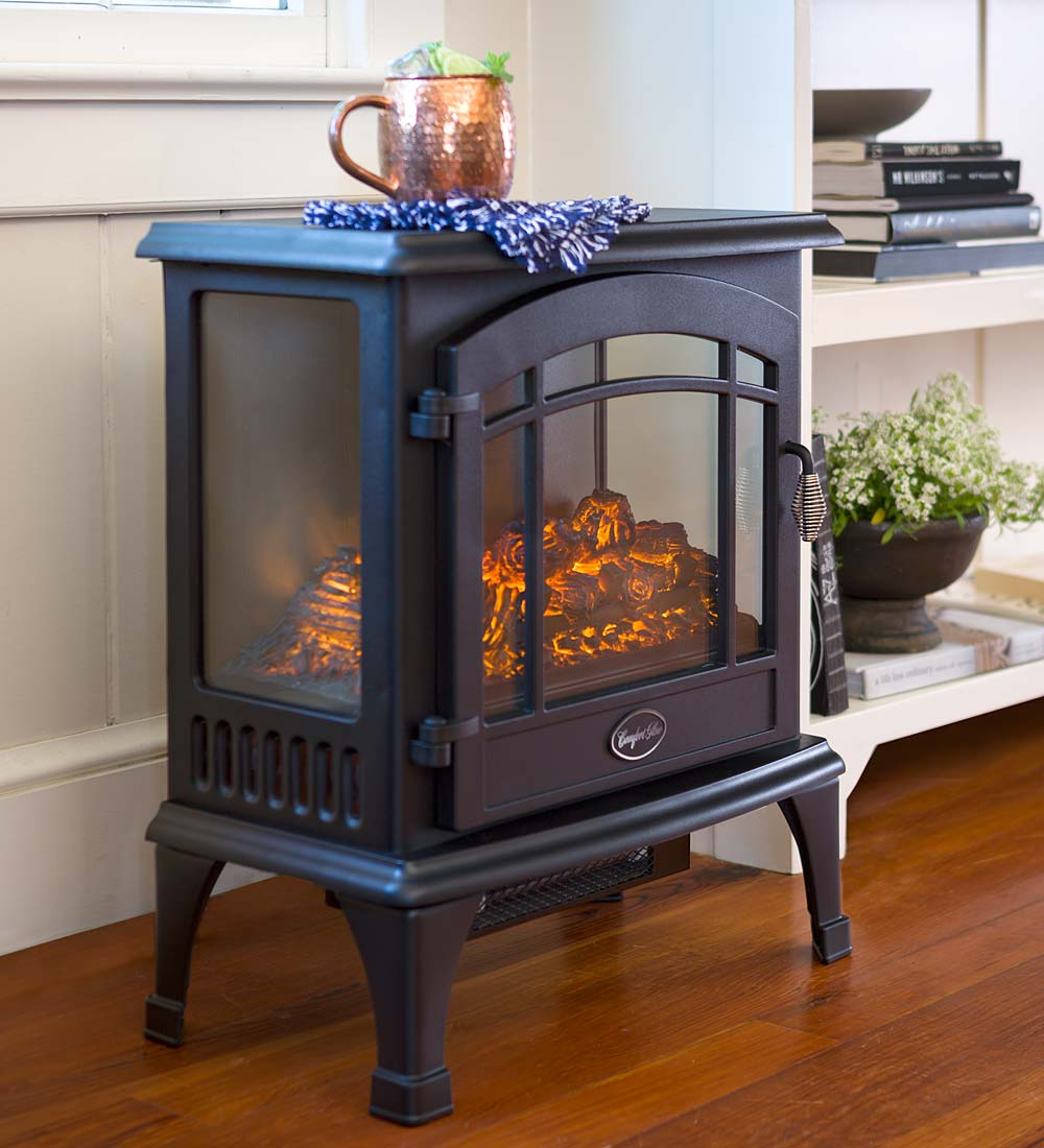 Stacked Stone Electric Infrared Quartz Fireplace Heater Plowhearth