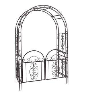 montebello iron garden arbor with gate - Garden Accents