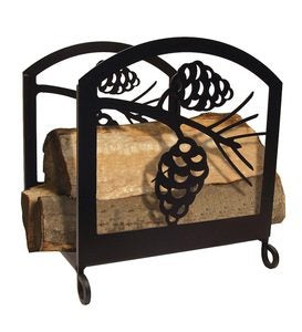 Pine Cone Fireplace Log Rack