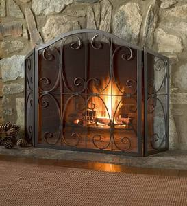 Crest Tri-Fold Fire Screen