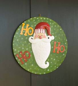 Handmade Holiday Door Decor Metal Art