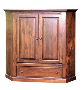 Two-Door Corner TV Cabinet Made in USA