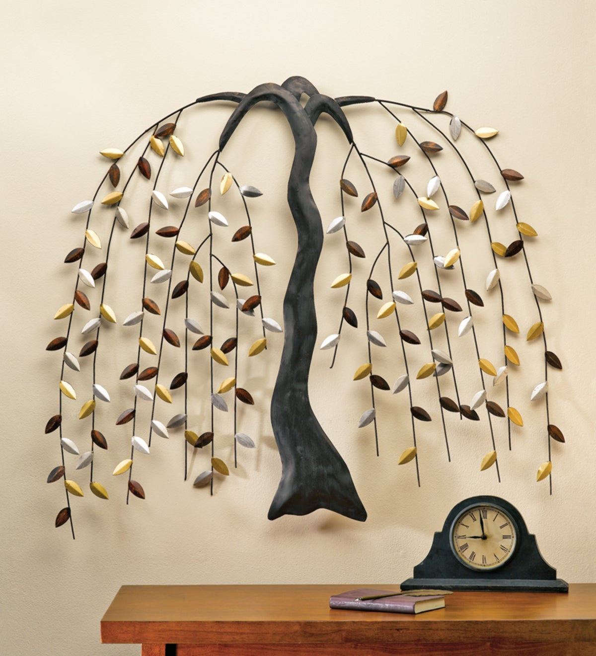 Large Metal Willow Tree Wall Art Plowhearth