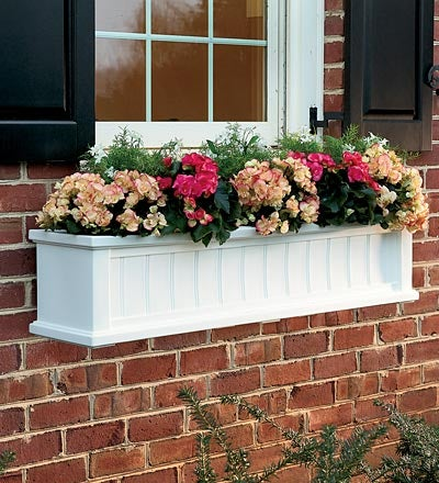 Lexington Self-Watering Window Box with Hanging Brackets, 3'L