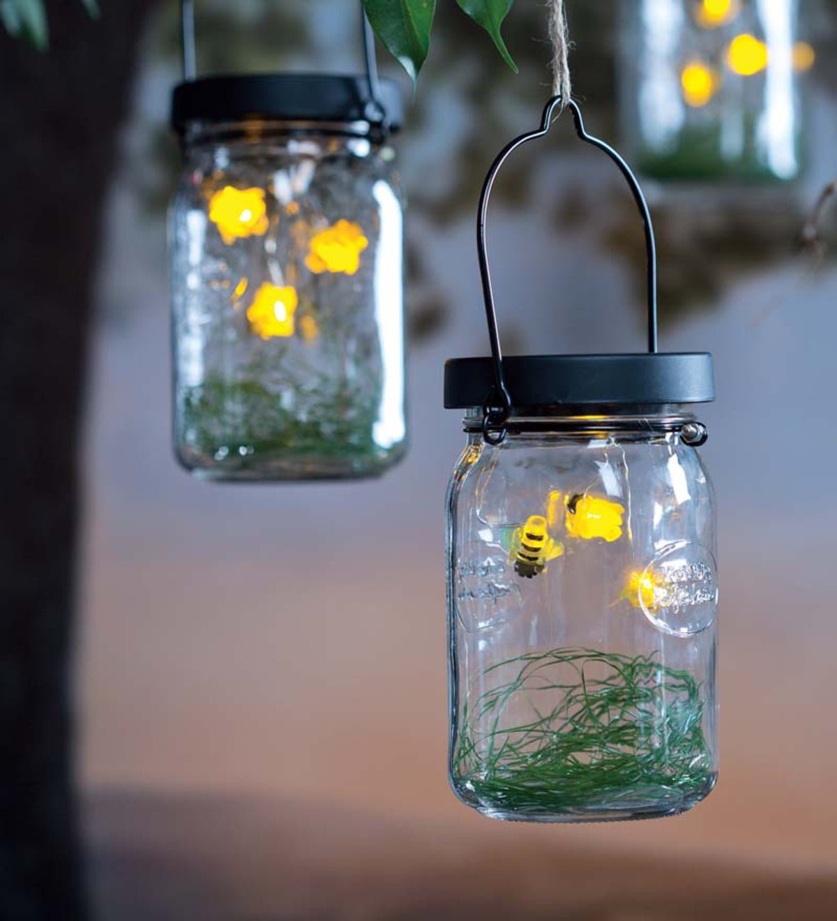 LED Firefly Lantern, Set of 2