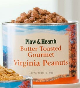 Flavored Extra Large Virginia Peanuts, 40 oz. Tin - Butter Toasted