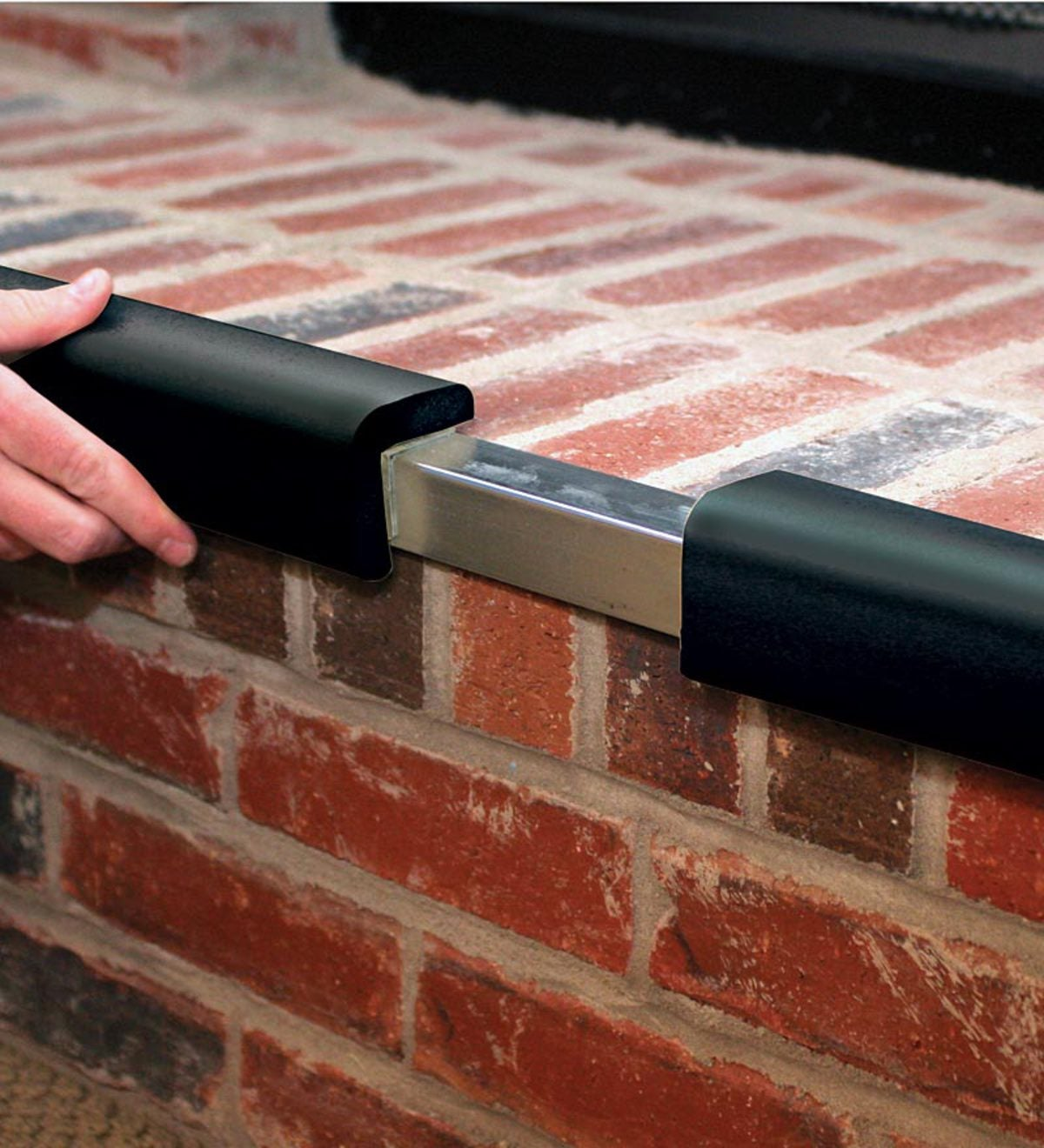 Flame-Resistant Metal Backed Hearth Guard - Black