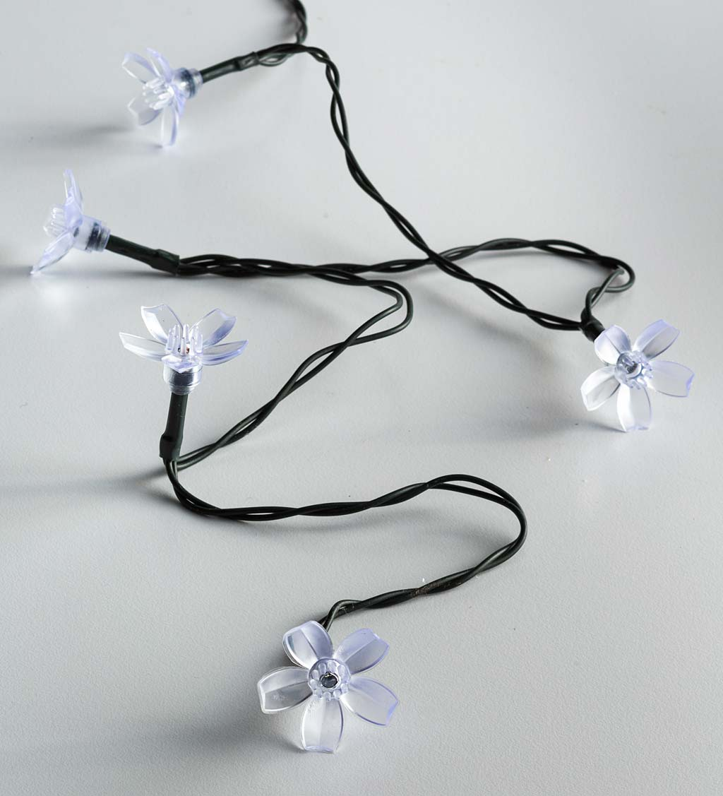 Multi-Function, Color-Changing Solar Flower String Lights