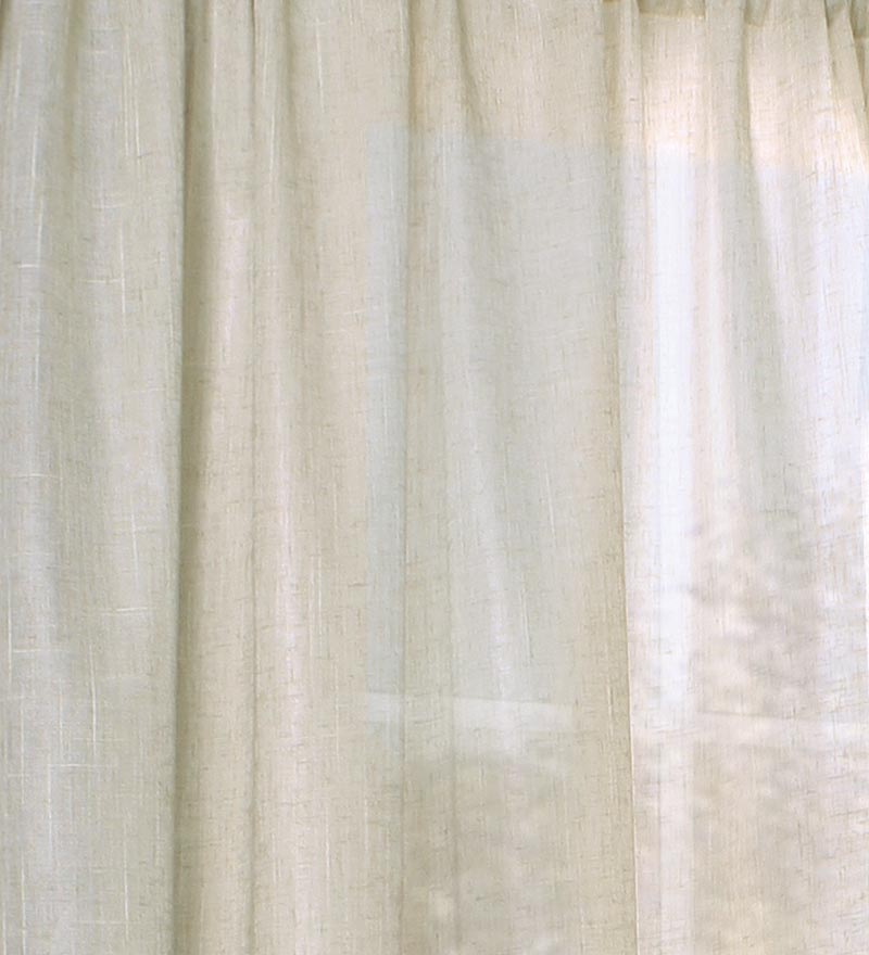 "84""L ThermaSheer™ Insulating Rod-Pocket Semi-Sheer Window Curtain Panel swatch image"