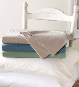 Queen Signature Cotton Percale Sheet Set - Blue Spruce