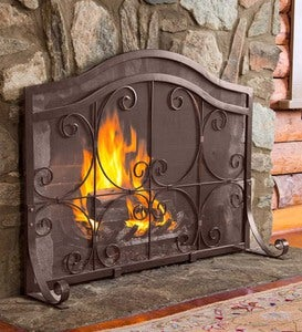 Crest Flat Guard Fireplace Screen
