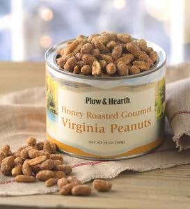 Honey Roasted Virginia Peanuts, 18 oz. Resealable Tin