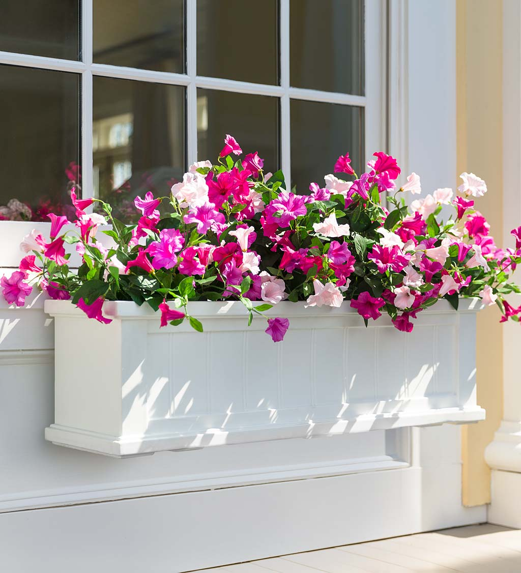Lexington Self-Watering Window Boxes with Hanging Brackets