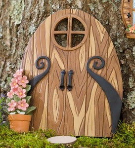 Miniature Fairy Garden Double Door Tree Accent