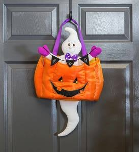 Spooky Ghost Motion-Activated Halloween Door Décor