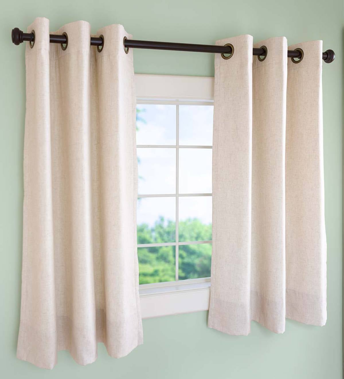 Insulated Short Curtain Panels, Grommet-Top