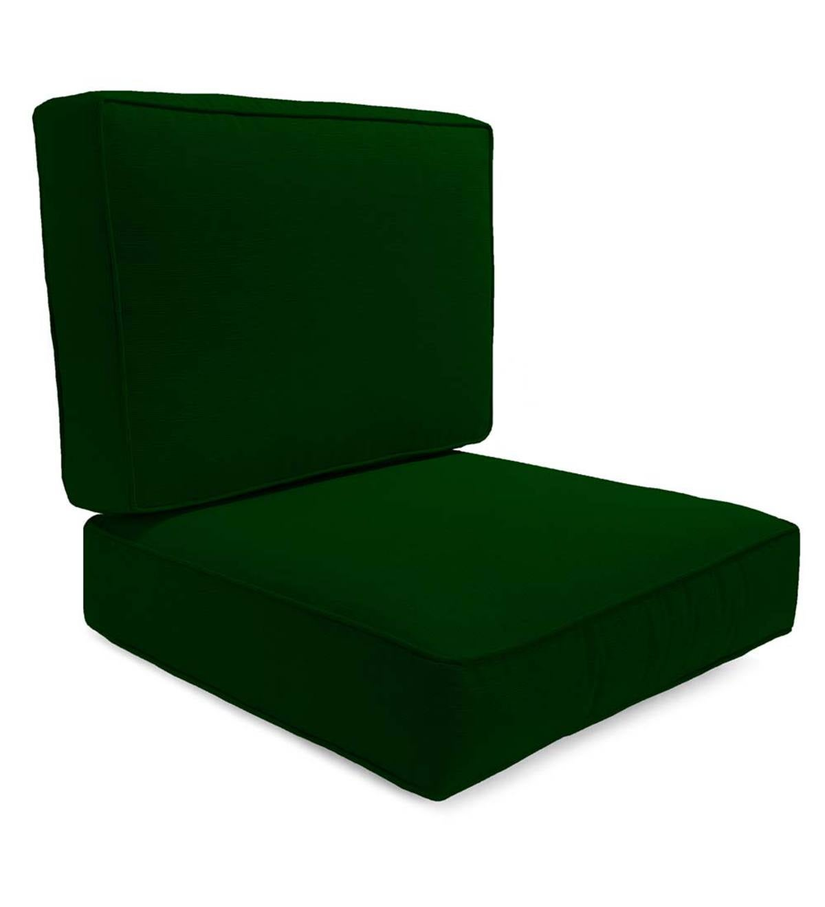 Box Edge Polyester Replacement Chair Cushion Claremont Seating Forest Green Plowhearth