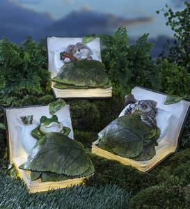 Book Dreamer Sleeping Animal Garden Statue