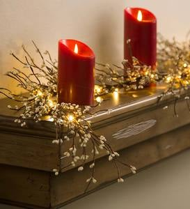 Battery Operated Lighted Holiday Garland