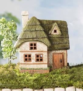 Miniature Fairy Garden Solar Two-Story Cottage
