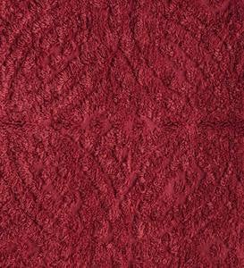 Wedding Ring Tufted Chenille Sham - Antique Red