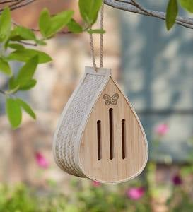 Bamboo Butterfly Drop Hanging Habitat Shelter
