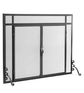 Flat Guard Fire Screens With Doors in Solid Steel