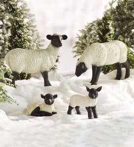 Suffolk Sheep Resin Garden Statue