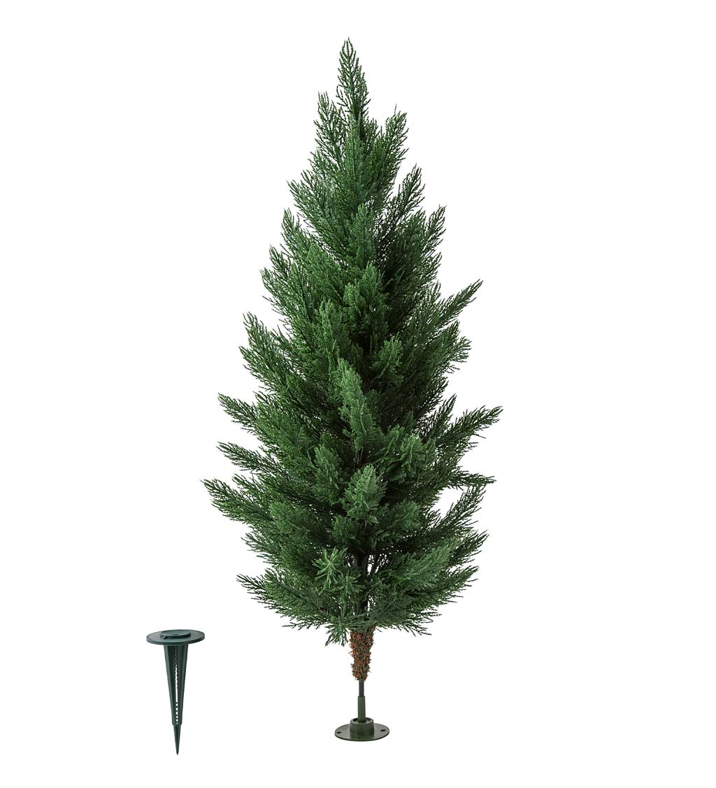 "Medium Faux Cedar Tree, 30""H"
