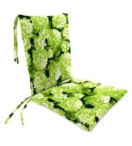 Polyester Classic Rocking Chair Cushions with Ties - Forest Hydrangea