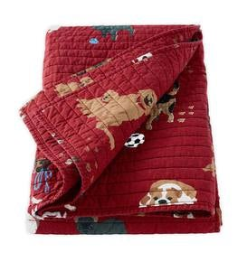 Dog Park Quilted Cotton Throw