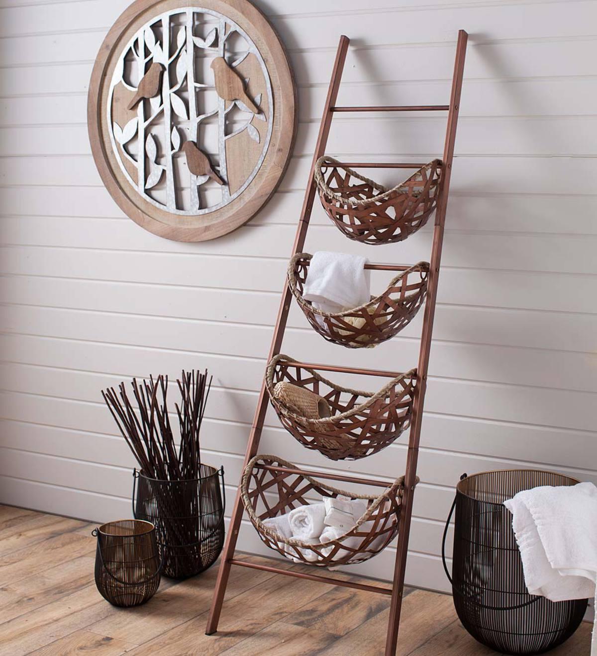 Hanging Basket Storage Ladder