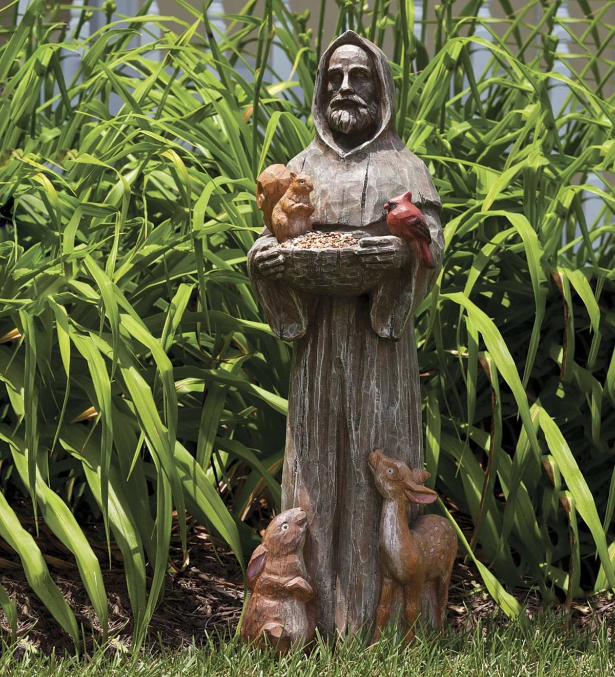 St. Francis and Friends Resin Garden Statue