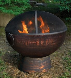 Weather-Resistant Large Outdoor Fire Bowl
