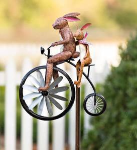 Bunny Biking Around Saturn/'s Ring Soft Enamel Pin