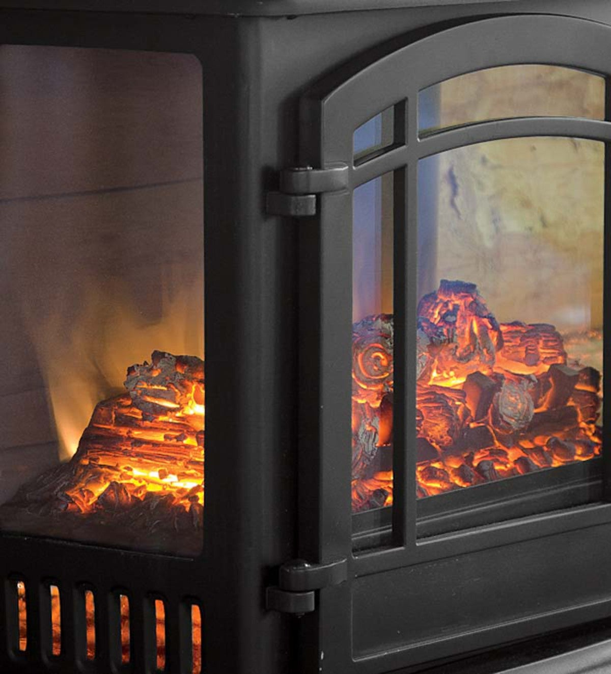 Panoramic Quartz Infrared Stove Heater Black Plowhearth