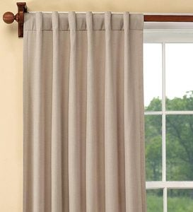 "Homespun Rod-Pocket Insulated Curtain, 96""L"