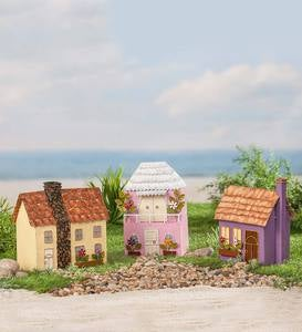Miniature Fairy Garden Tropical Island Metal Cottage