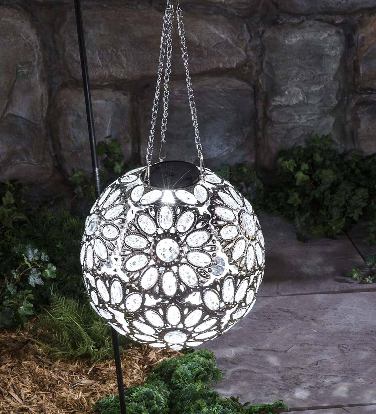 Hanging Solar Jewel Ball