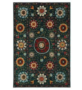 Covington Charcoal Floral Area Rugs