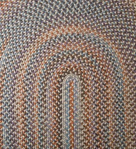 Blue Ridge Wool Braided Oval Rugs, Made In USA
