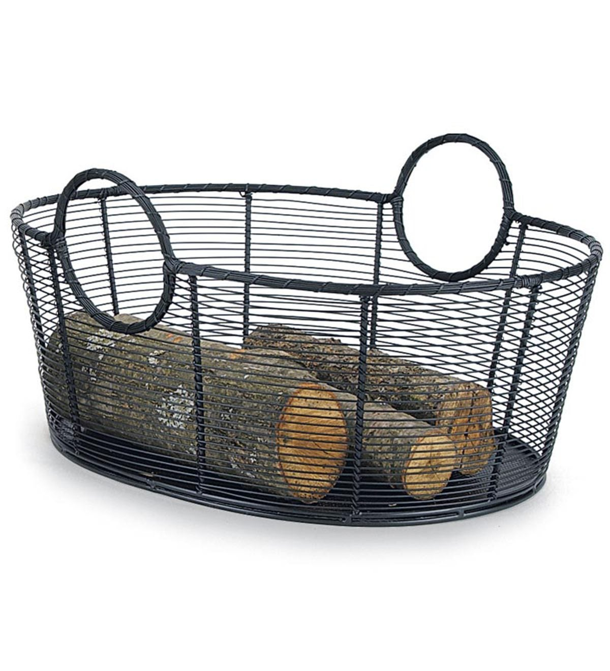 Large Steel Wire Log Basket