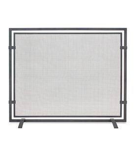 Sinclair Single Panel Fireplace Screen in Natural Iron Finish