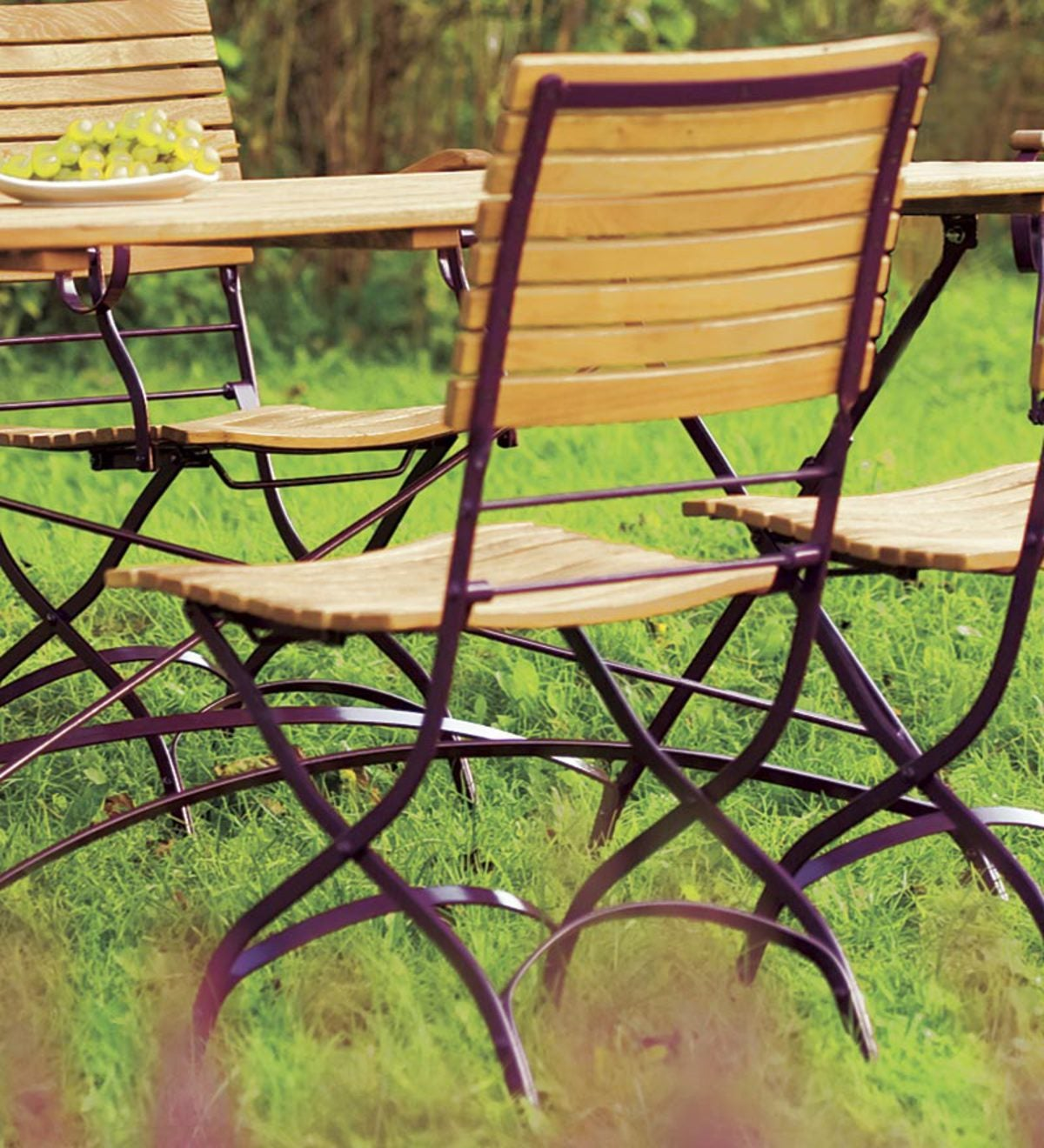 "Rosalie Robinia Outdoor Folding chair: 16-3/4""x 23-3/4""x 33-1/3"""