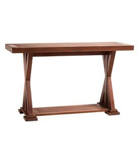 Claremont Outdoor Eucalyptus Console Table