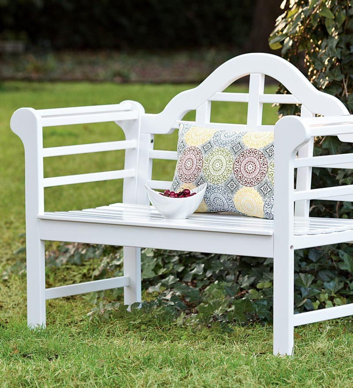 Hearth Bench: All-Weather Solid Wood Lutyens Garden Bench