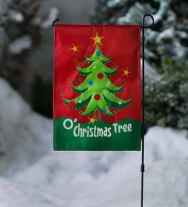 Lighted Musical Holiday Garden Flag with Stand - Snowman
