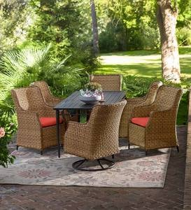 Highland Wicker Outdoor Dining Collection
