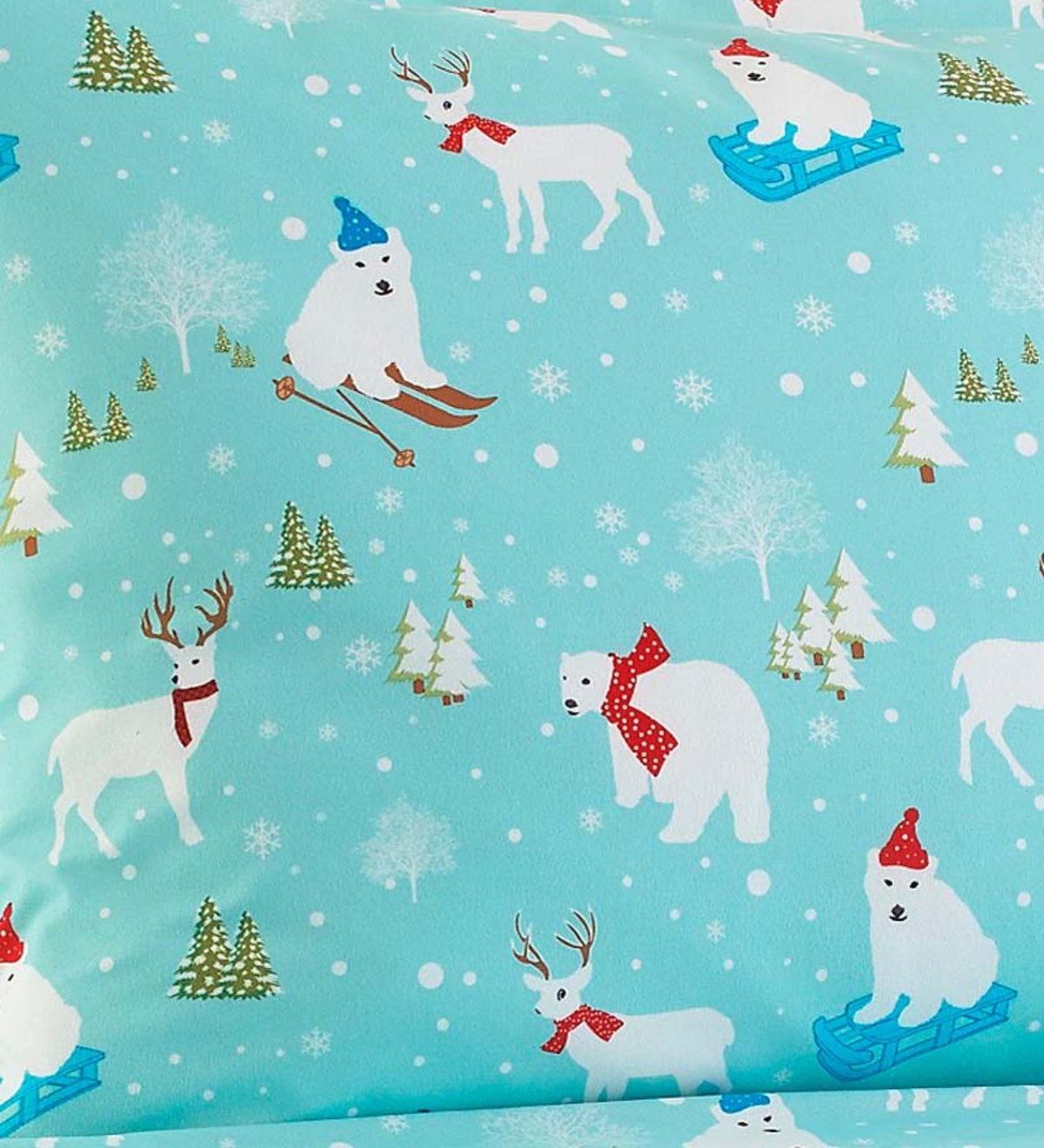 Full Fun in the Snow Microflannel® Sheet Set