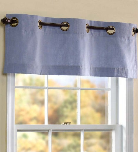 "Homespun Grommet-Top Curtain Valance, 40""W x 14""L"